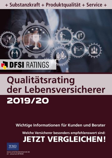 Qualitätsrating der Lebensversicherer 2019/20 - DFSI-RATINGS