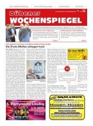 Dübener Wochenspiegel - Ausgabe 20 - Jahrgang 2019