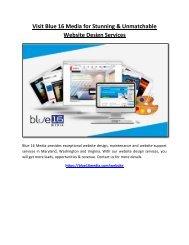 Visit Blue 16 Media for Stunning & Unmatchable Website Design Services