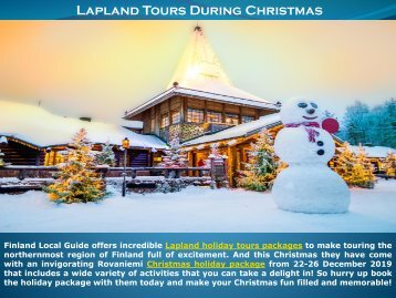 Lapland Tours During Christmas