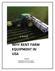 A Guide - Why Rent Farm Equipment in USA