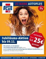 25 JAHRE AUTOPLUS - Gutscheine im Wert von bis zu 100 Euro