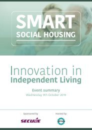 Smart Social Housing - Innovation in Independent Living