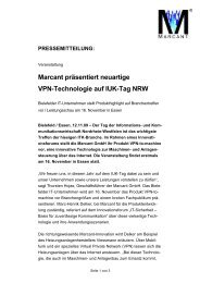 Marcant präsentiert neuartige VPN-Technologie ... - MarcanT GmbH