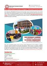 Best English Medium Schools In Gurgaon-Sherwood Convent School