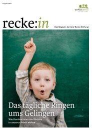 recke:in - Das Magazin der Graf Recke Stiftung Ausgabe 1/2014