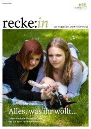recke:in - Das Magazin der Graf Recke Stiftung Ausgabe 2/2013