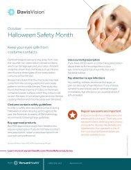 Halloween Safety Month