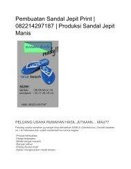 Pembuatan Sandal Jepit Print   082214297187   Produksi Sandal Jepit Manis