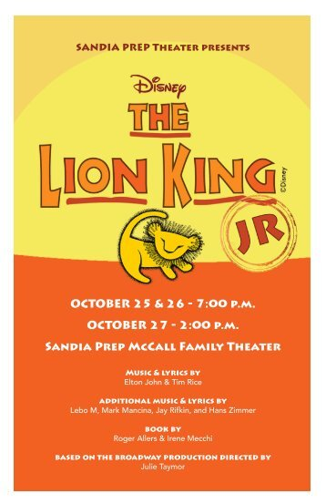 Disney's The Lion King JR
