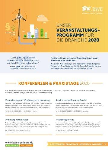 BWE-Veranstaltungsprogramm 2020