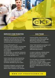 CKF Frästechnik - Maschinenliste