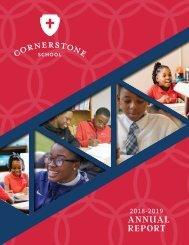 Cornerstone Annual Report | 2018-2019