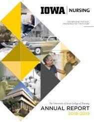 UIowa College of Nursing Annual Report 2018-2019