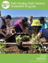 2019 Kids Feeding Kids Program Report
