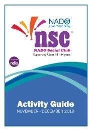 NADO Social Club Activity Guide - Nov/Dec 2019
