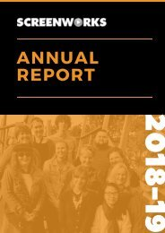 Northern Rivers Screenworks Inc. 2018/19 Annual Report