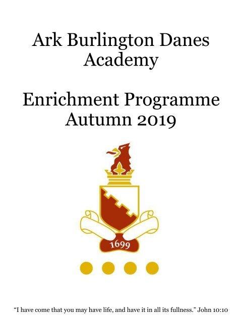 Ark Burlington Danes Academy Enrichment Autumn 2019