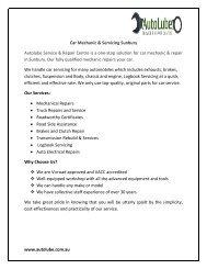 Affordable Car Mechanic & Servicing Sunbury - Autolube Pty Ltd