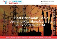 Heat Shrink Cable Joints Suppliers