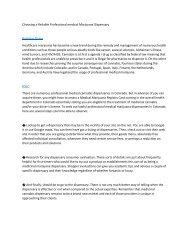 Choosing a Reliable Professional medical Marijuana Dispensary6