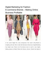 Digital Marketing for Fashion E-commerce Brands – Making Online Business Profitable