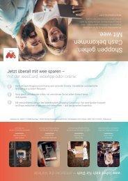 wee-Infomaterial für Kunden