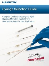Hamilton syringe Selection Guide 2019 - GH