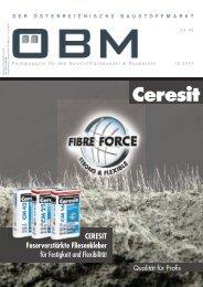 2019-10 OEBM Der Österreichische Baustoffmarkt - Ceresit - FIBRE FORCE