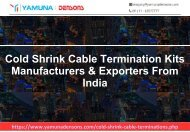 Cold Shrink Cable Termination Manufacturer