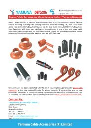 Power Cable Accessories Manufacturer India-Yamuna Densons