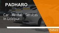 Enjoy Your Udaipur Trip With Padharo Car Rental Services