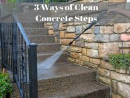 3 Ways of Raleigh Power Washing of Cleaning Concrete Steps by Peak Pressure Washing