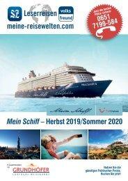 Leserreisen Mein Schiff - Herbst 2019/Sommer 2020