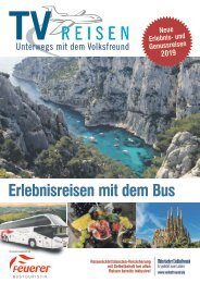 TV Reisen - Erlebnisreisen mit dem Bus