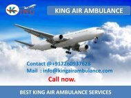 Top and Best Air Ambulance Service in Raipur and Dibrugarh by King