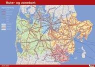 Rute og zonekort 2018/2019 | Midttrafik