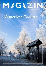 Magazin Gewürze und Kräuter im Winter