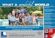 Schaffranek Kulmbach - Gruppenreisen 2020