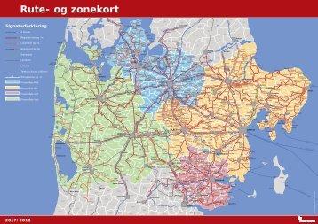 Rute og zonekort 2017/2018 | Midttrafik