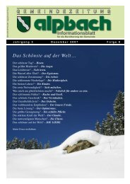 Impressum:Medieninhaber und Herausgeber - Alpbach - Land Tirol