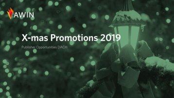 Xmas Publisher Promotions 2019