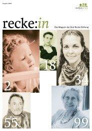 recke:in - Das Magazin der Graf Recke Stiftung Ausgabe 4/2013