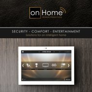 Solutions for an intelligent home - Smart Home company brochure