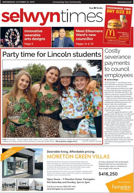 Selwyn Times: October 23, 2019