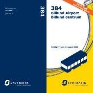 Køreplan ~ GRATIS BUS 384 i Billund og gyldig fra 27 Juni til 9 august 2015 | SYDTRAFIK