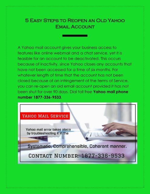 5 Easy Steps to Reopen an Old Yahoo Email Account