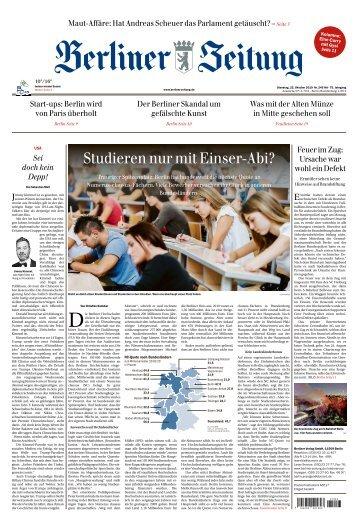 Berliner Zeitung 22.10.2019