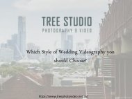 Which Style of Wedding Videography you should Choose?