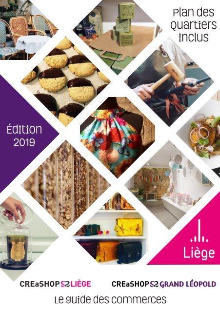 Le guide des commerces Créashop de la Ville de Liège